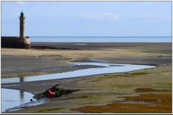 Marée basse dans le port du Légué à Saint Brieuc Côtes d'Armer